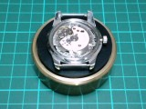 自作の時計作業台